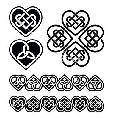 Download Celtic heart knot - symbols set vector 1299066 - by ...