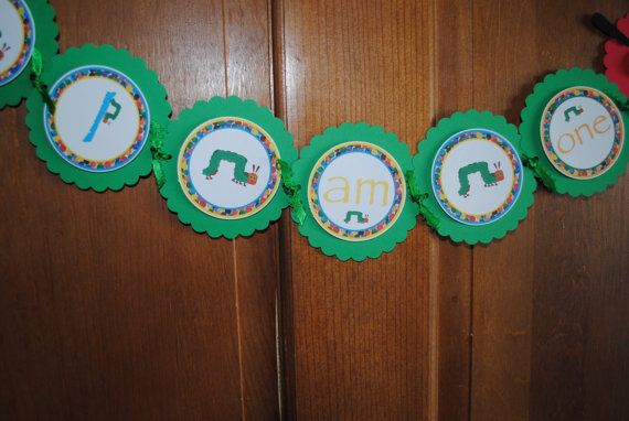 NEW  Hungry Caterpillar  High Chair Banner by mlf465 on Etsy, $12.50