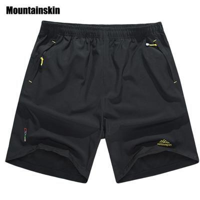 Quick Dry Casual Beach Shorts - Black / XL