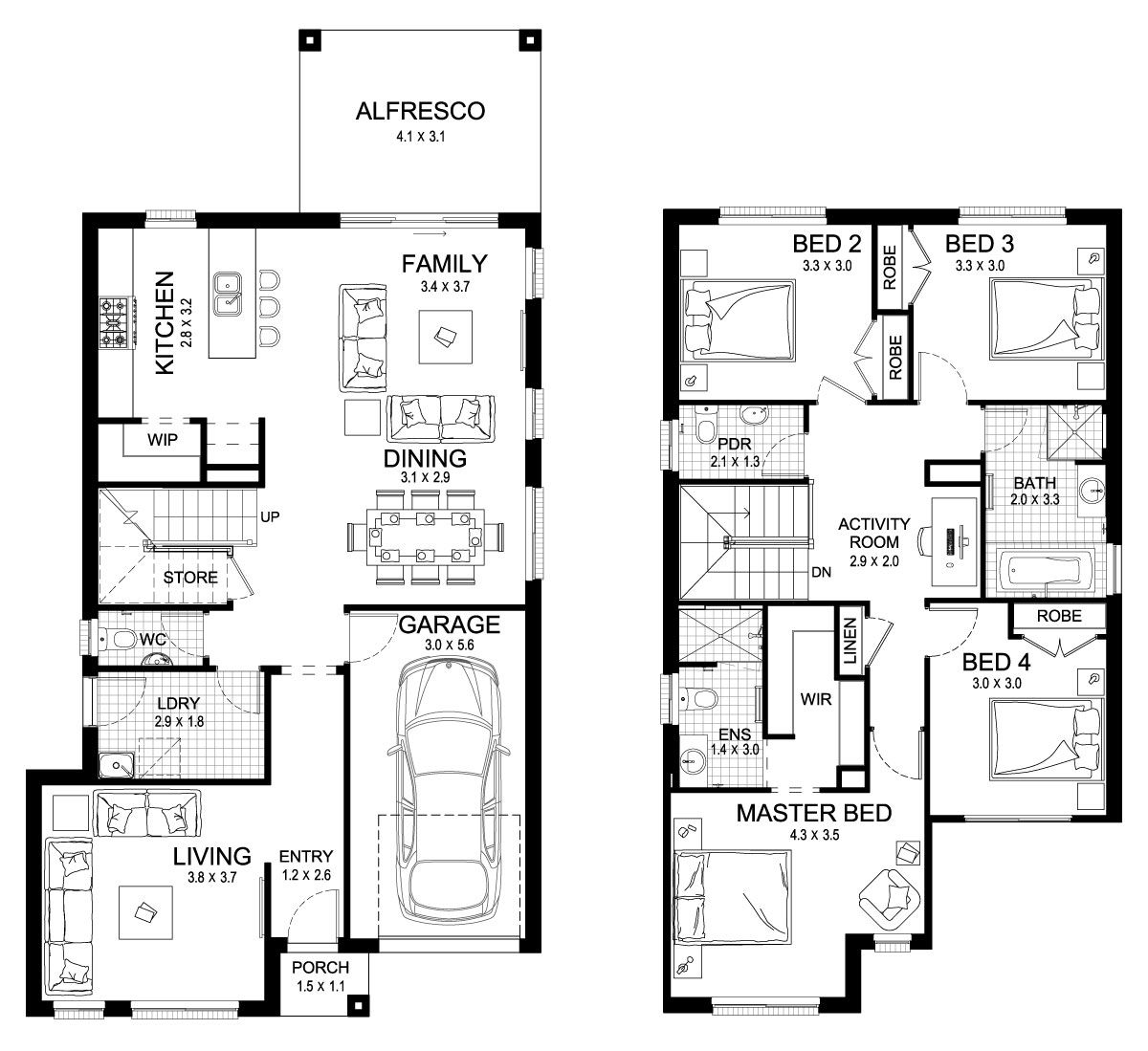 Claremont 23   Double Level   Floorplan By Kurmond Homes   New Home  Builders Sydney NSW