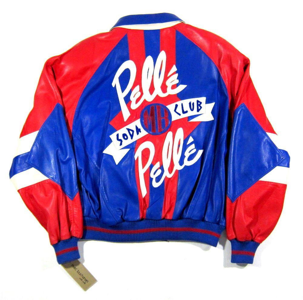 cc996a014 Early 90s vtg pelle pelle leather soda club jacket og nyc biggie nas ...