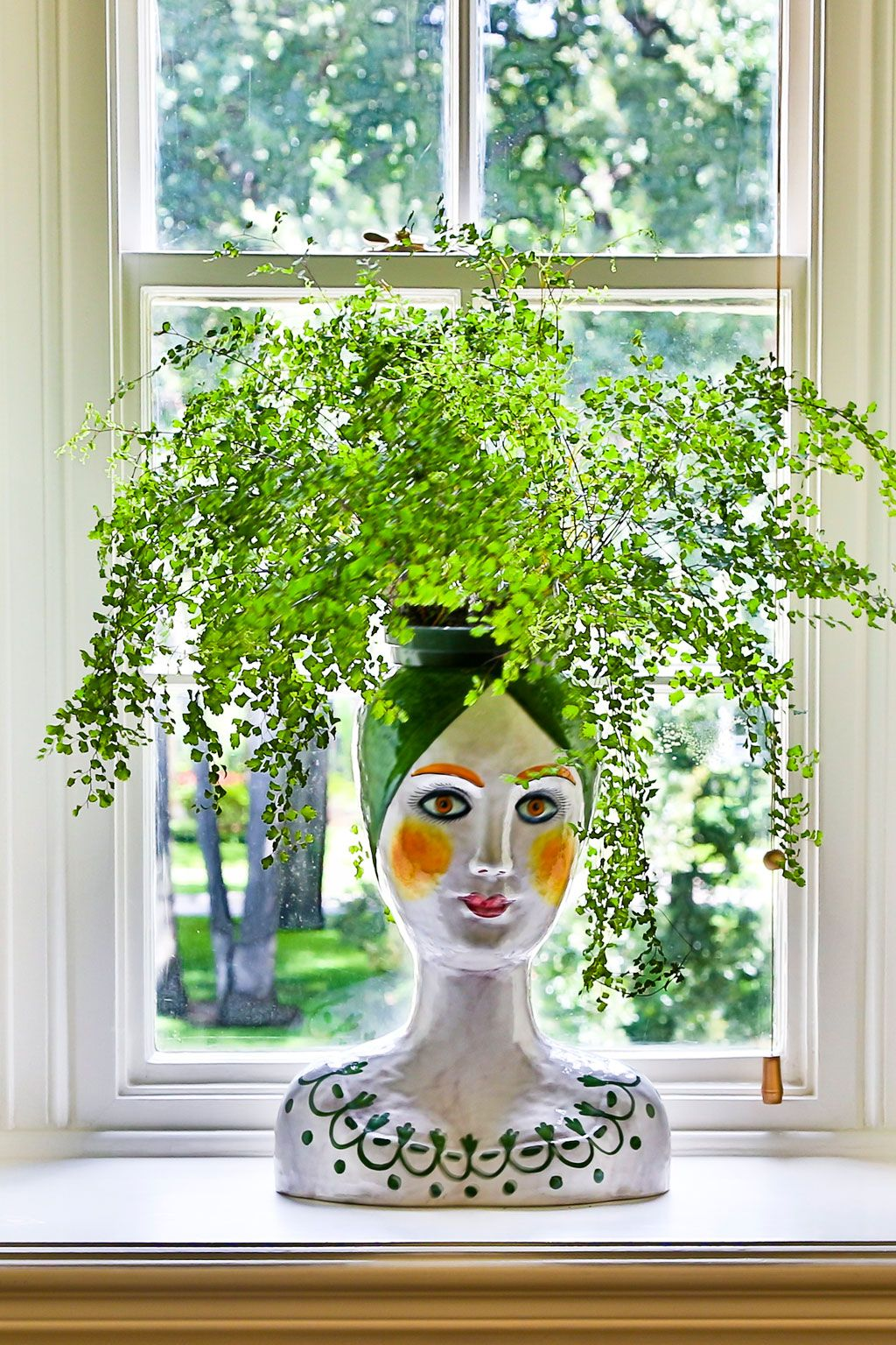 Thrill of the Hunt Face planters, Garden art, Indoor