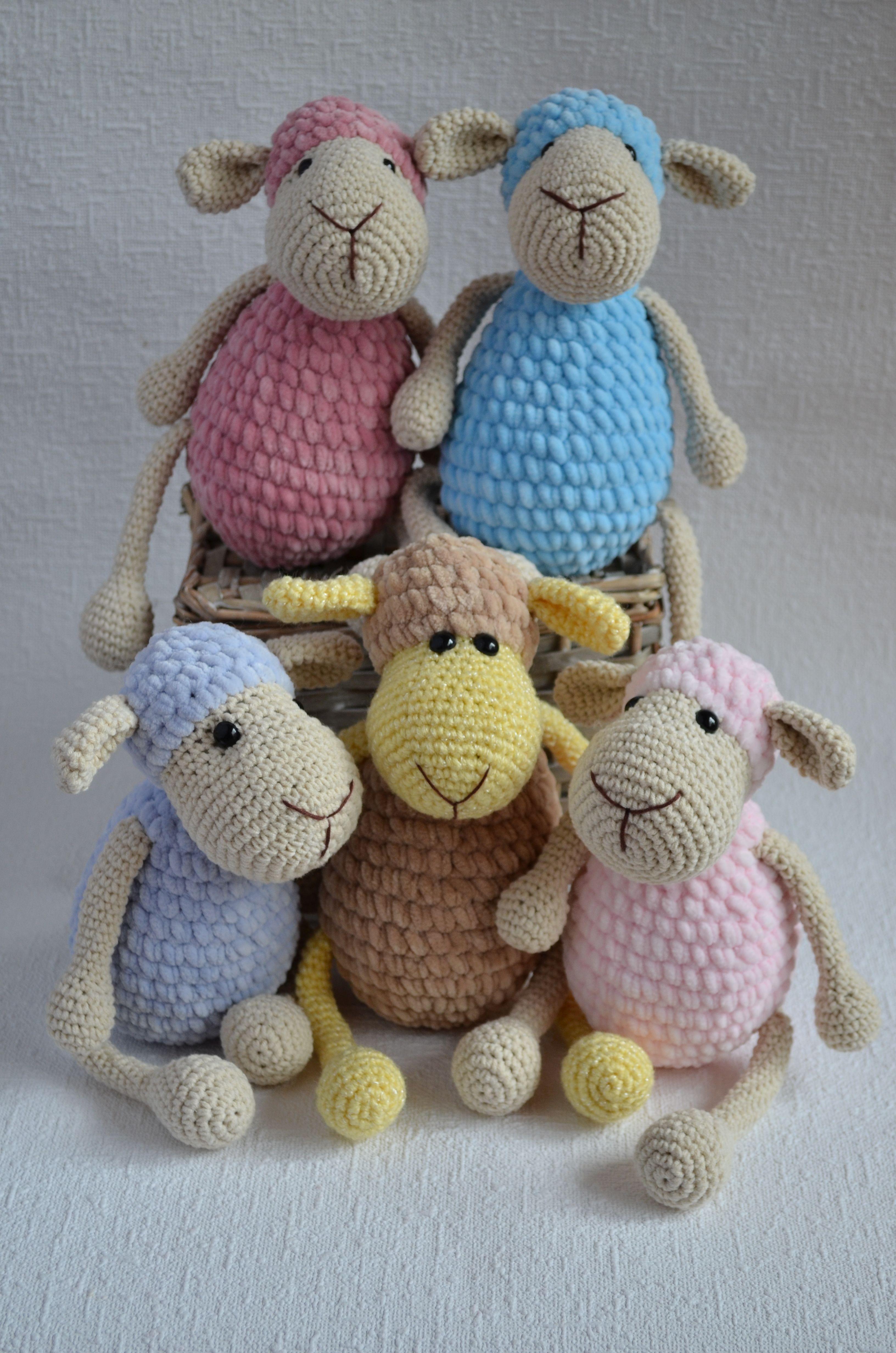 Sheep baby toy, Sheep plush toy, Stuffed animals, Crochet