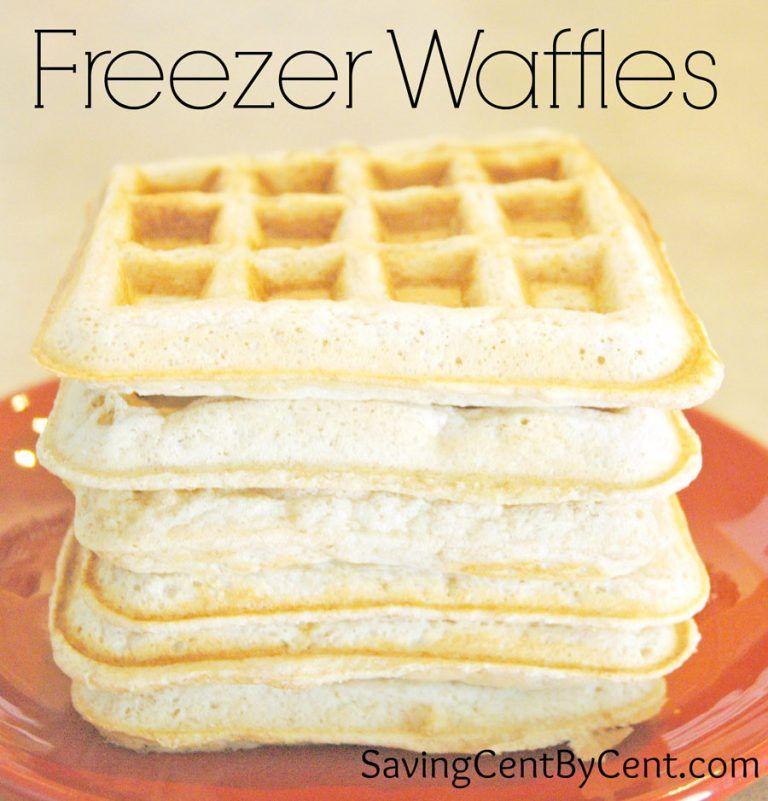 Freezer waffles homemade waffles freezer dinners