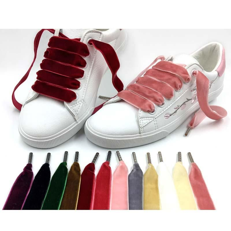 2 Pairs Black Flat Wide Silk Ribbon Shoelaces Fantastic Casual Shoes Sneaker NEW