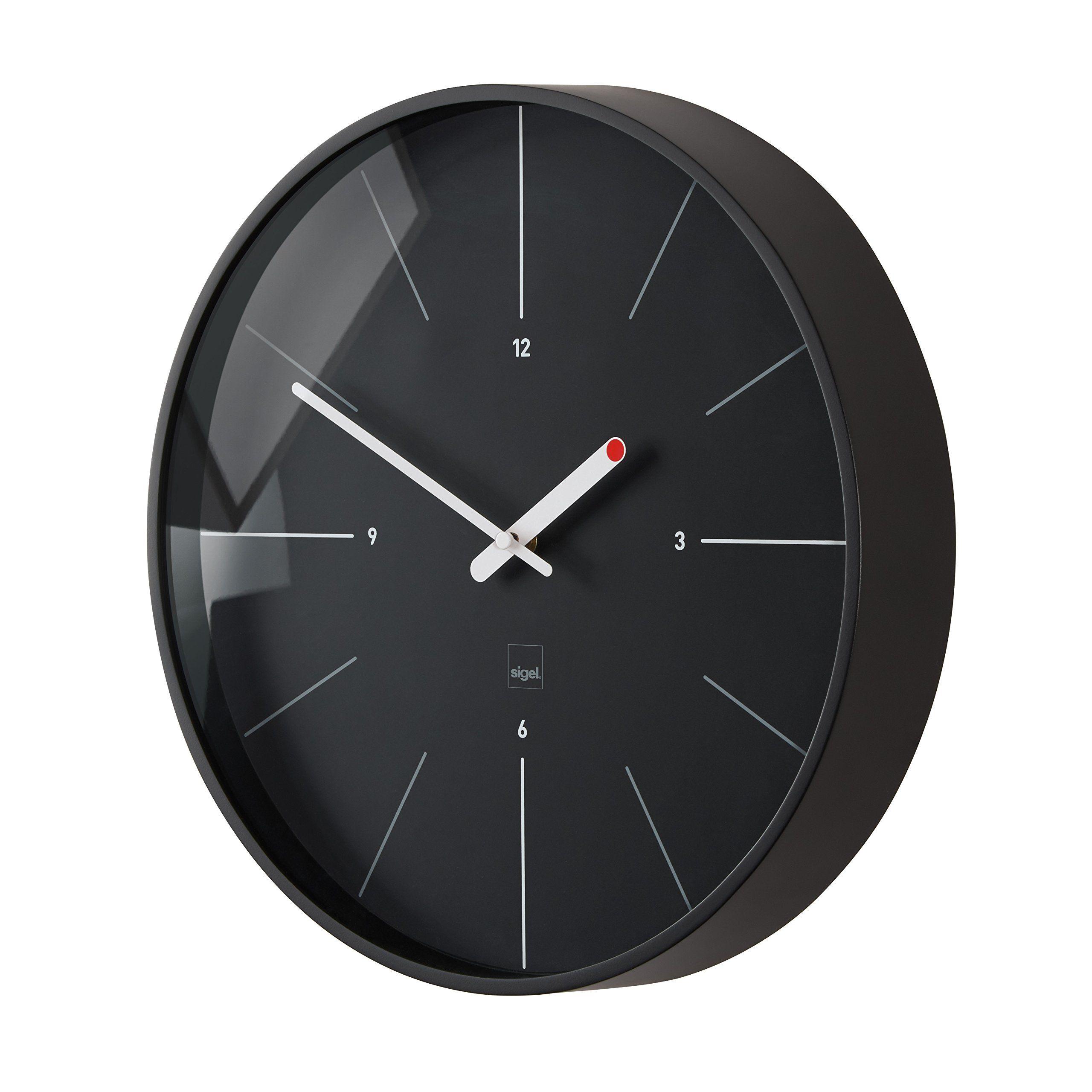 Sigel Wu113 Design Funk Wanduhr Modell Ondo Schwarz Ø 36 Cm Artetempus Reddot Design Award 2014 Gewinner Amazon De Küche Home Clock Clock Clock Design