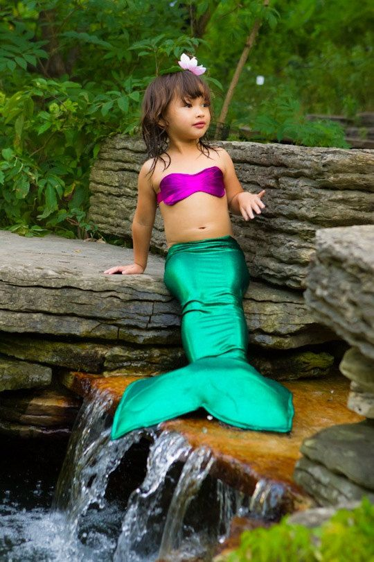 Little mermaid costume - Girls green mermaid Tail for Little Girls ...