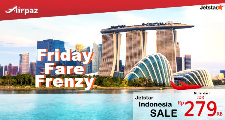 Friday Fare Frenzy! Dapatkan Tiket Pesawat Promo Termurah dari Jetstar di Airpaz Pesan Sekarang: http://ow.ly/rQw1301Asev Info Selengkapnya: http://ow.ly/M9o6309LAgS #TiketPesawat #TiketMurah #Jetstar #FridayFareFrenzy #Airpaz #Travel #Vacation