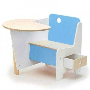 20 Awesome Kids Desks For Painting And Writing : 20 Awesome Kids Desks For  Painting And Writing With White And Blue Wooden Kids Table And Chair