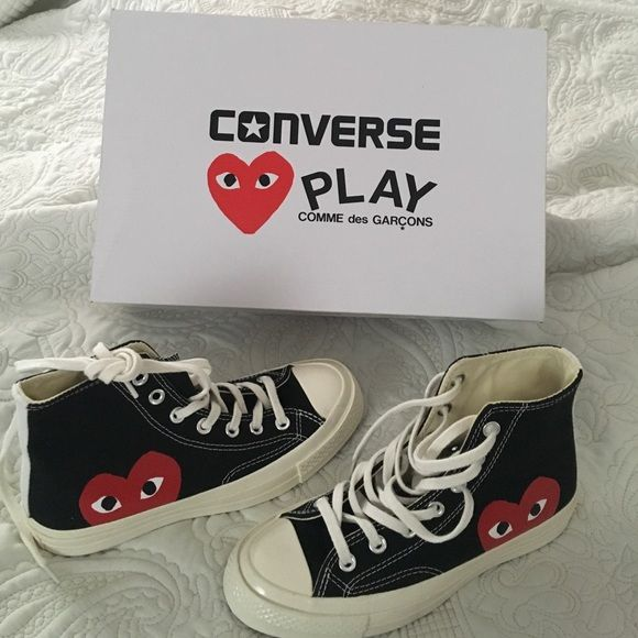 Authentic Comme Des Garcons converse play shoes