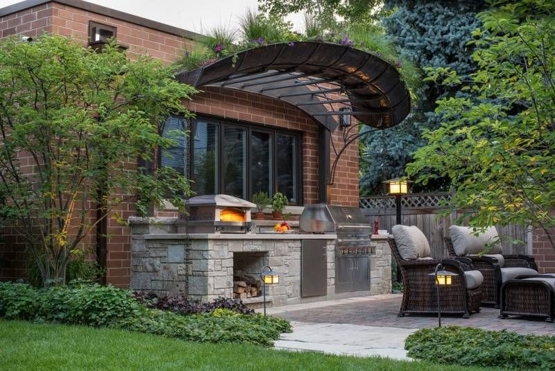 Outdoorküche Garten Edelstahl Zubehör : Outdoor küche mit edelstahl geräten ausgerüstet garten