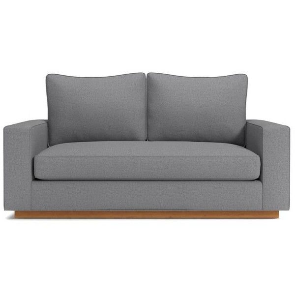 Apt2B Harper 62 Sofa Mountain Grey By (9.625 DKK) ❤ liked on Polyvore featuring home, furniture, sofas, wood sofa, eco friendly sofa, modern grey couch, mod furniture and modern sofa