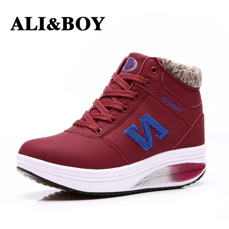 (Buy here: http://appdeal.ru/39c6 ) Women Boots Fitness Shoes Winter Fur Snow Boots High-Top Increased Winter Boots Shoes Woman for just US $65.50