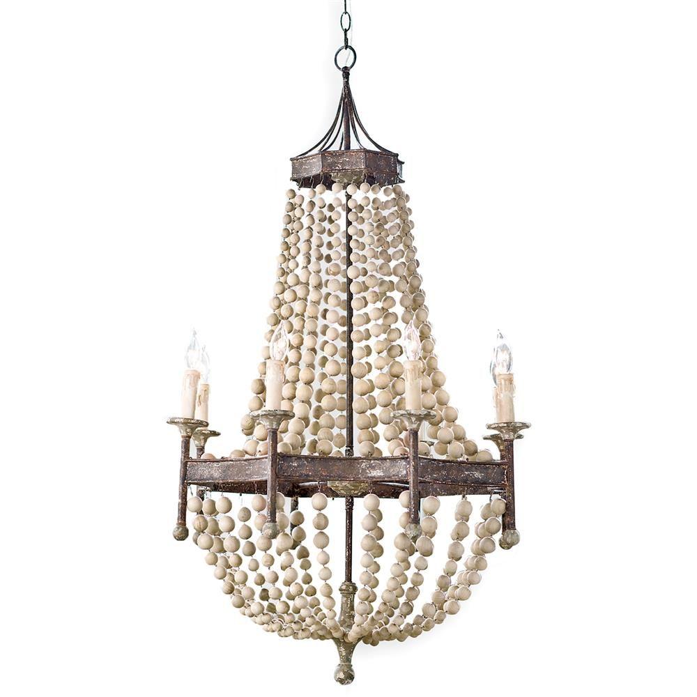 Maroma coastal beach scalloped wood bead metal chandelier coastal maroma coastal beach scalloped wood bead metal chandelier kathy kuo home mozeypictures Images