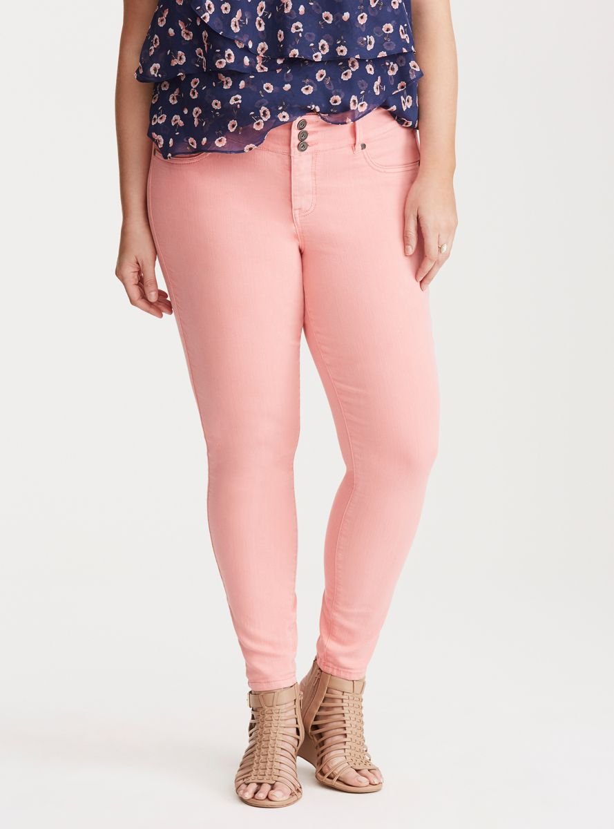 1d09e6b341379 Jeggings - Salmon Pink Wash | Products | Colored jeggings, Jeggings ...