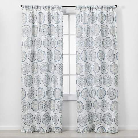 Threshold 2pc Florence Light Filtering Window Curtain Panels In