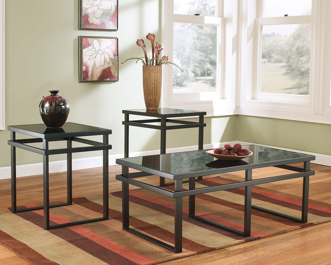 Laney Table Set Of 3 Black In 2020 Living Room Table Sets