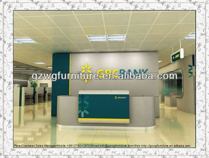 HOT bank office furniture reception desk reception table reception ...