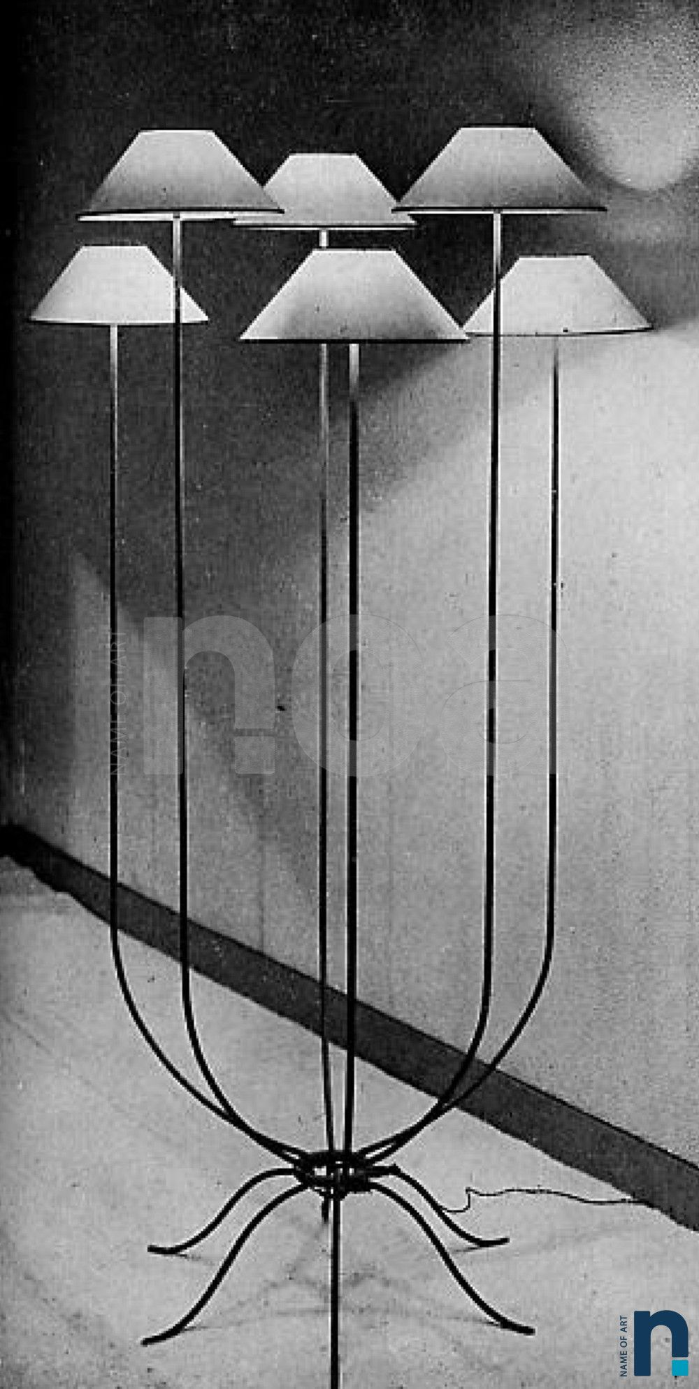 Jean Royere Decorateur Circa 1949 Lampadaire 6 Lumieres