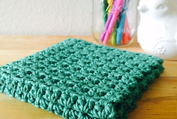 Grit Stitch Washcloth - free crochet pattern by Angela Santarpio ...
