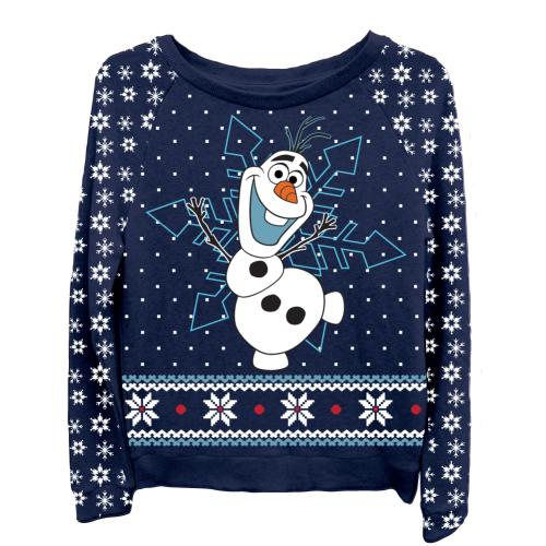 Kersttrui Olaf Dames.Frozen Women S Olaf Ugly Sweater Tshirtmall Com Frozen
