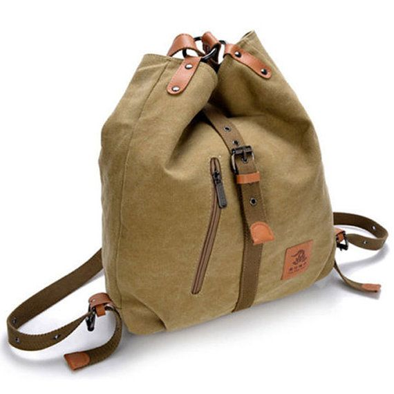 Bags messenger  Vintage Canvas Shoulder School Bag by JuraganShop