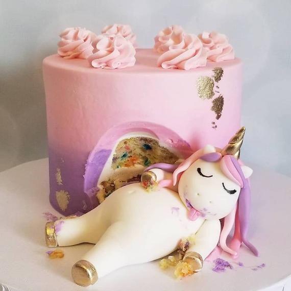 Chubby Unicorn Cake Topper