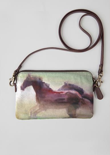 Leather Statement Clutch - Wild horse leather clutch by VIDA VIDA uKfqBtWHWX
