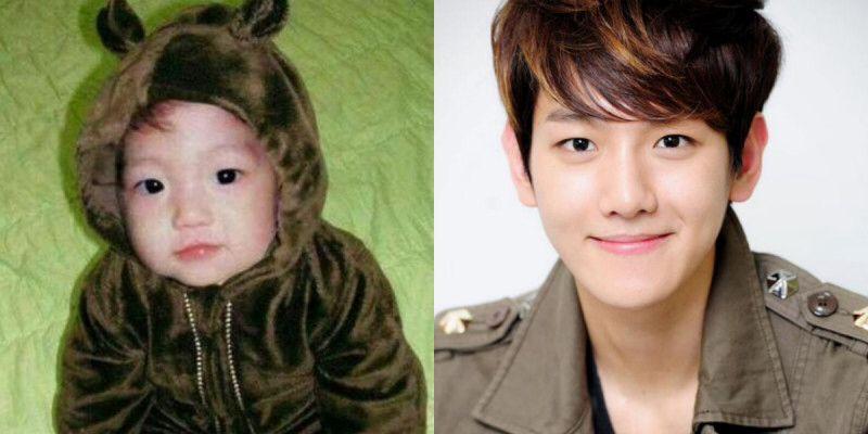Throw back onto their childhood #Baekhyun so cute isn't it ...