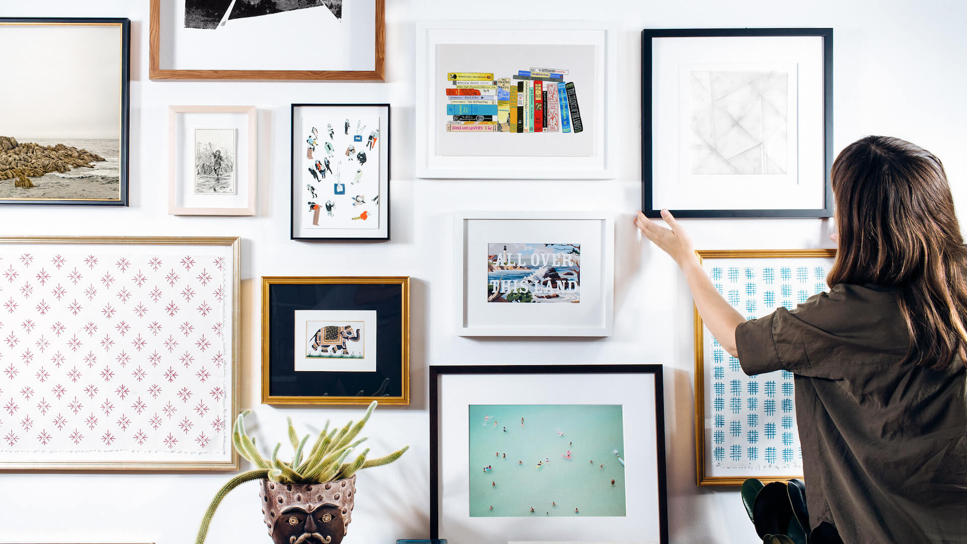 custom frames online. A Simply Framed Gallery Wall, Featuring Artwork From Jane Mount, Max Wanger, And Hamish Robertson. The Most Beautiful Online Custom Frames Quality I