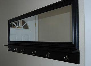 Nap Time Crafts Mirror Coat Hook Entryway Mirror With Hooks Diy Mirror Entryway Mirror