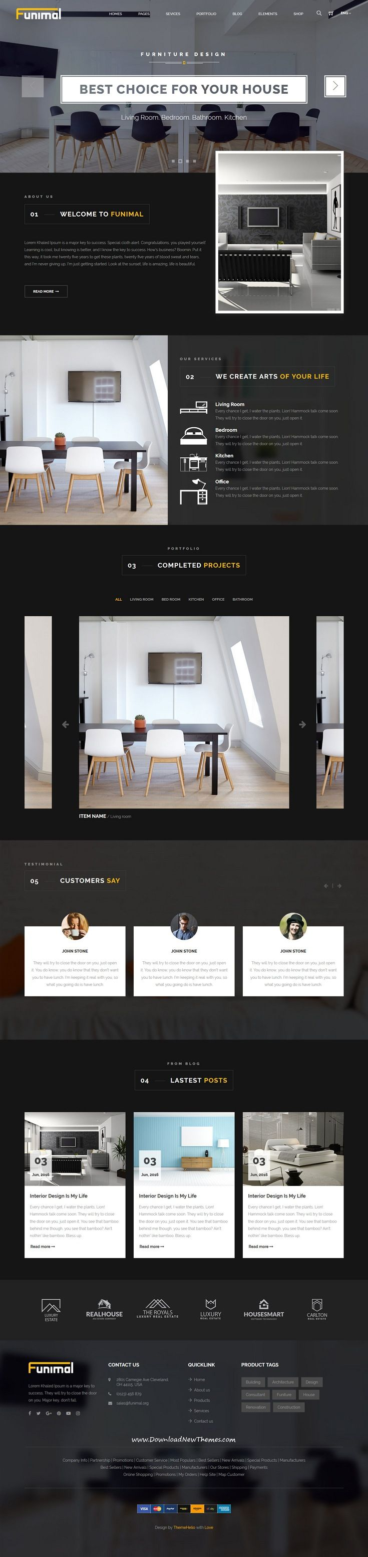 Funimal - Premium Furniture/Interior HTML Template | Template