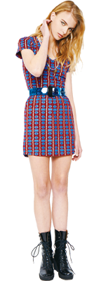 Stussy Confetti Mini Dress, Nylon Stussy Big Belt & Multi Color Disc Necklace #stussyjapan #spring2013