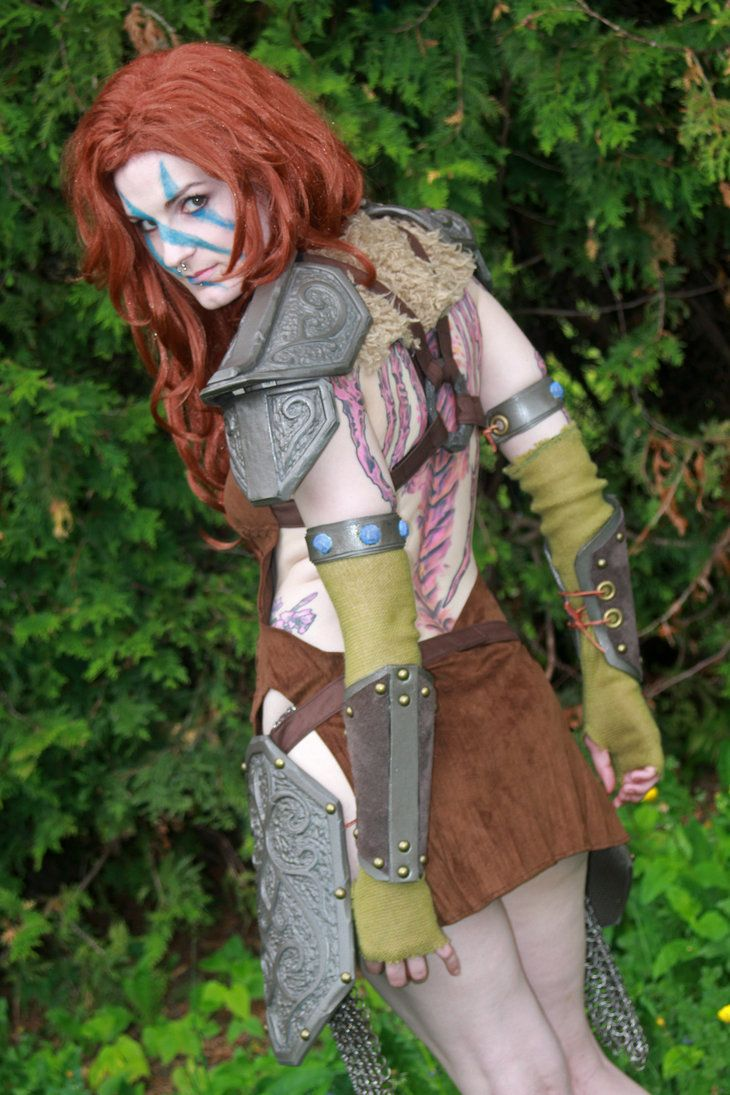 Aela the huntress skyrim costume made modeled myself-2819