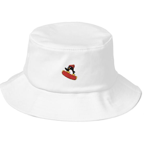 The Penguin Fashion Printed Fisherman Bucket Sun Hat Black Bucket Hat