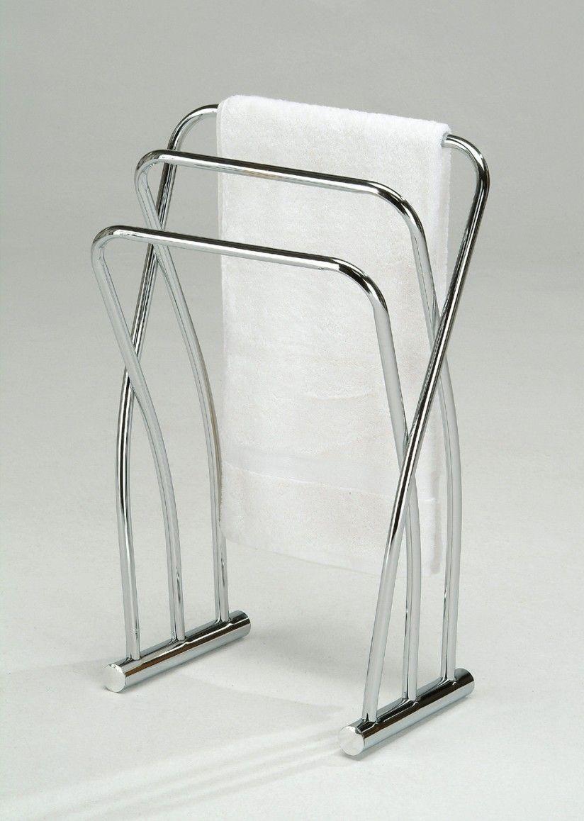 Modern Chromed Bathroom Freestanding Towel Three Rack Stand Design .
