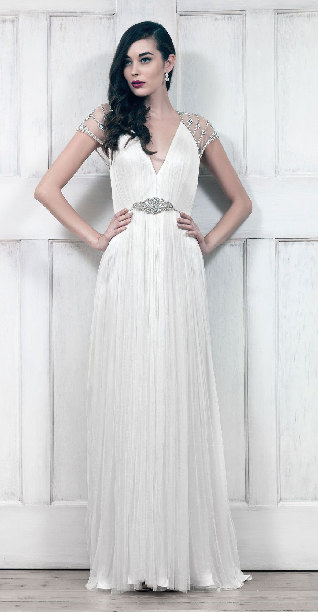 catherine deane | tallulah gown | silk tulle gown | intricate beaded ...
