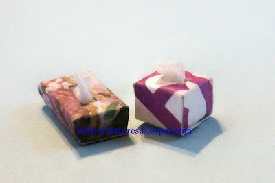 How to Make a Miniature Box of Tissues