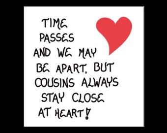 Quotes About Cousin Friendship Pleasing Cousin Theme Magnet Quote Family Closethemagnificentmagnet