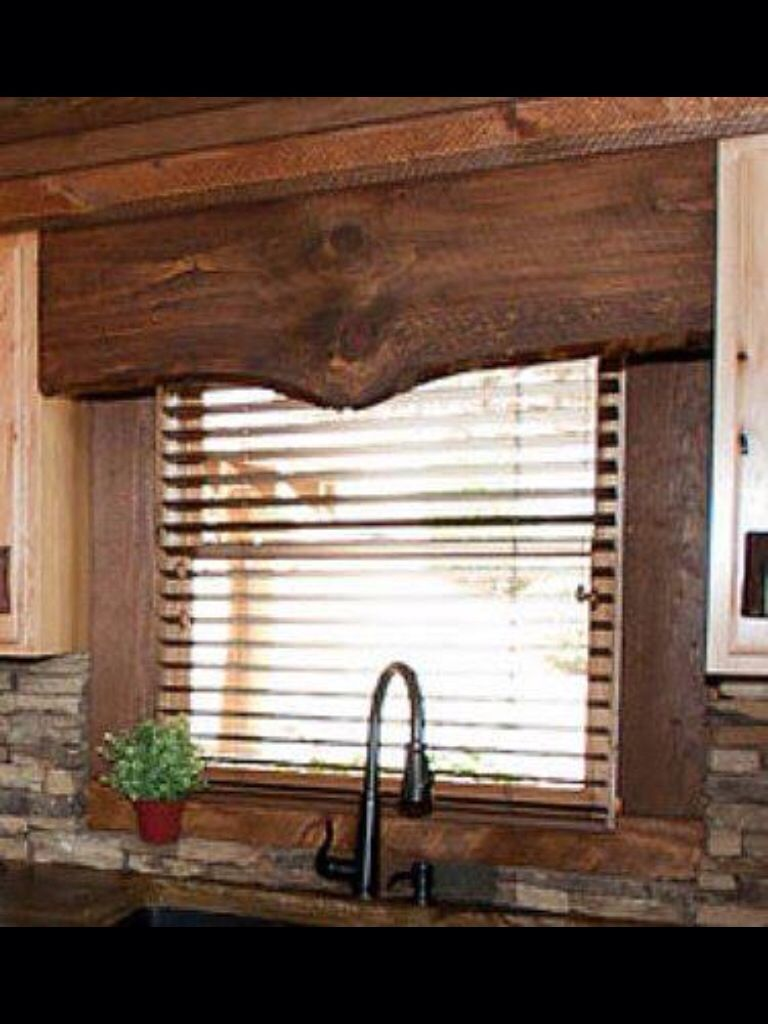 Window Topper Rustic Window Treatments Kitchen Window Treatments Rustic House
