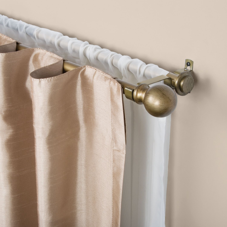 Kenney Ball Cap Adjustable Double Curtain Rod Cap Ball Kenney Adjustable With Images Double Curtains