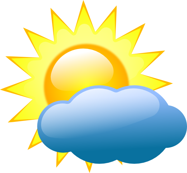 Summer Sun And Cloud Clip Art Weather Symbols Free Clip Art Weather Patterns