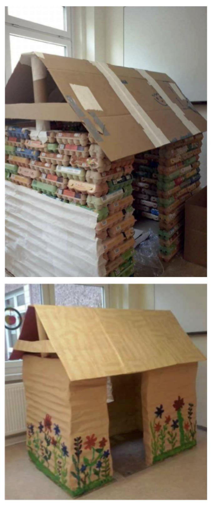 haus aus pappe die sch nste spielsache der welt cardboard fun spass mit pappe pinterest. Black Bedroom Furniture Sets. Home Design Ideas