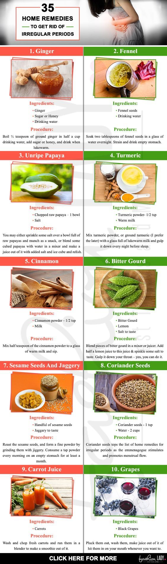 35 Home Remedies To Get Rid Of Irregular Periods | You Can