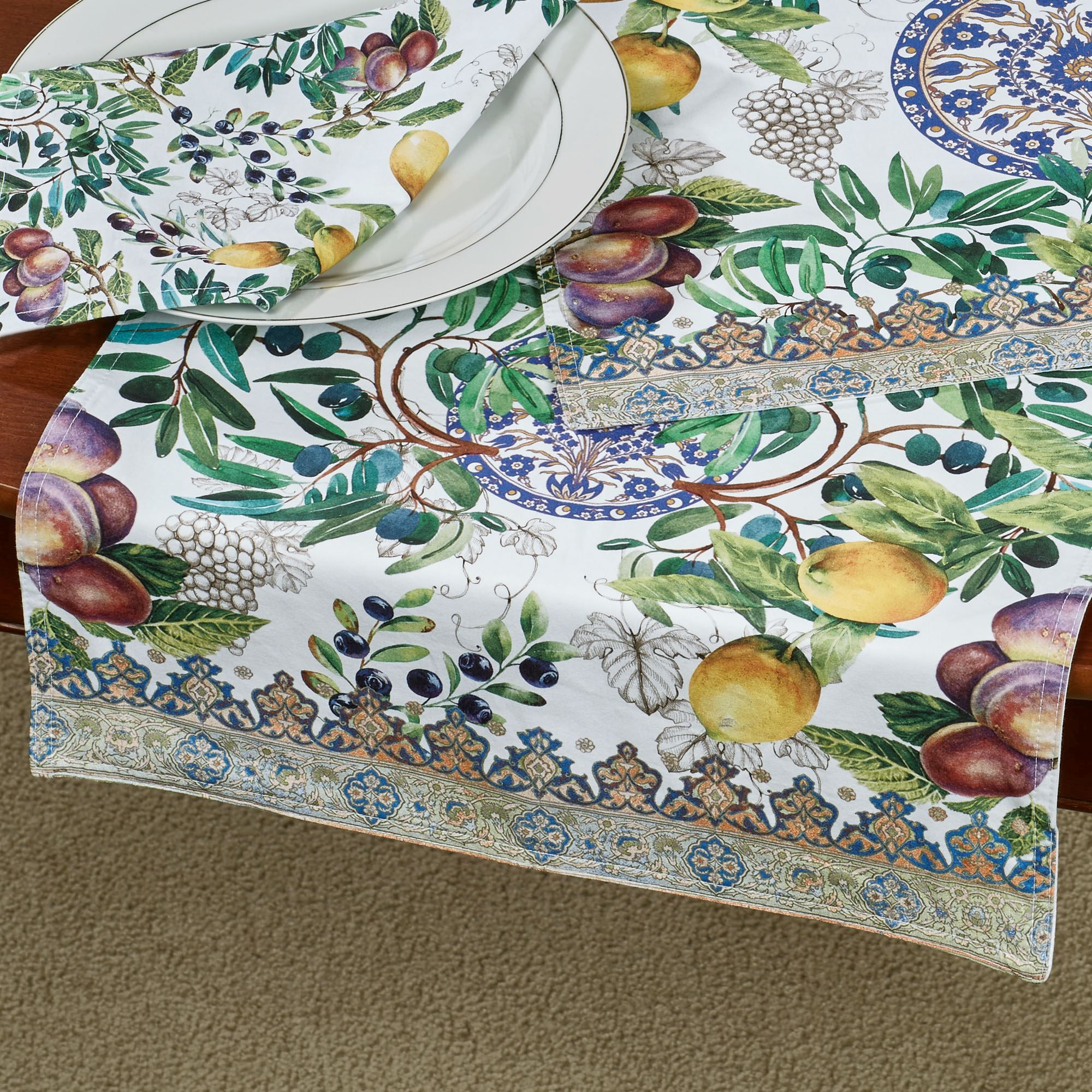 Tuscan Grove Fruit Themed Table Linens Tuscan Table Table
