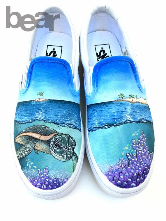timeless design 730d6 c912e Let me paint you something! Here are some hand painted custom Vans shoes  with original