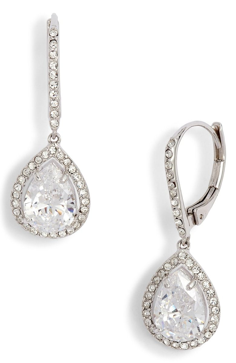 b0ddd926ed Free shipping and returns on Nordstrom Cubic Zirconia Drop Earrings ...