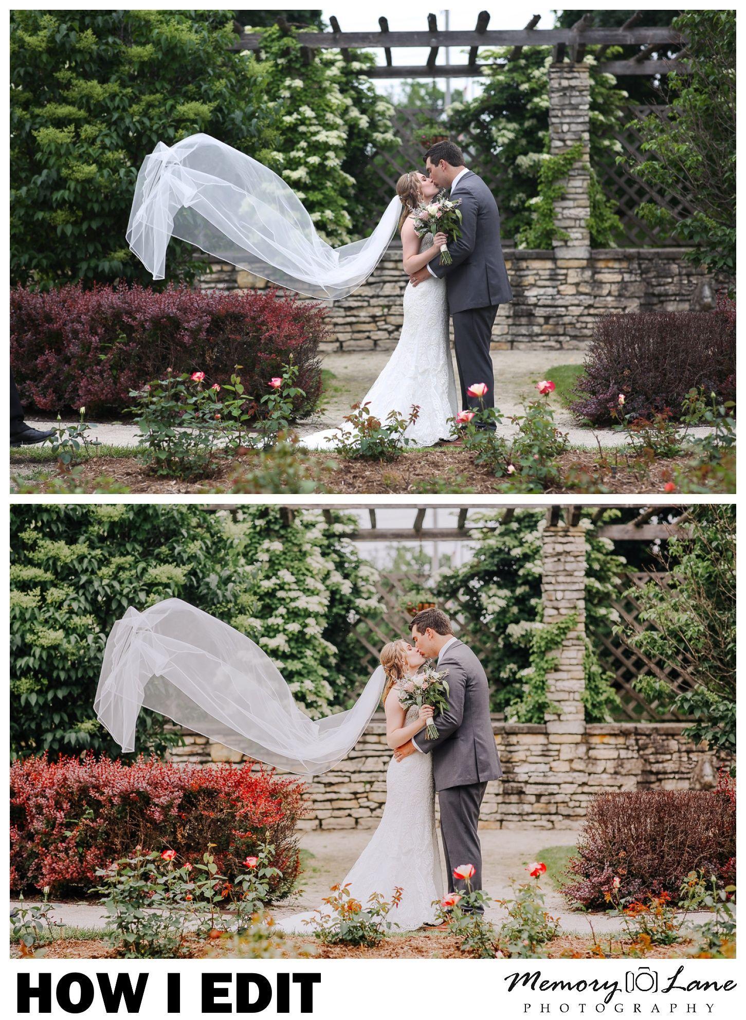 How to edit wedding photos