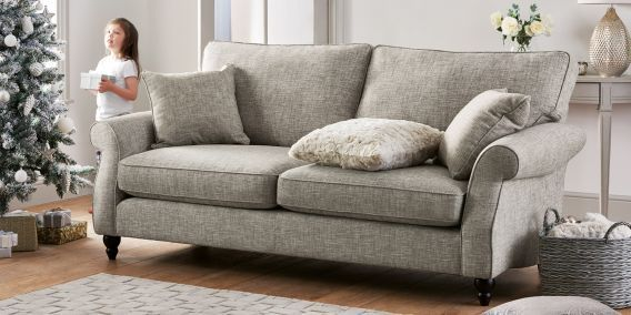 buy ashford large sofa 3 seats boucle weave light dove low turned dark from the next uk. Black Bedroom Furniture Sets. Home Design Ideas