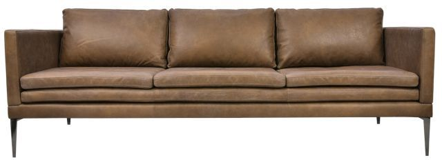 Portland 3 Seater Leather Sofa - Tan - Matt Blatt | Decor ...